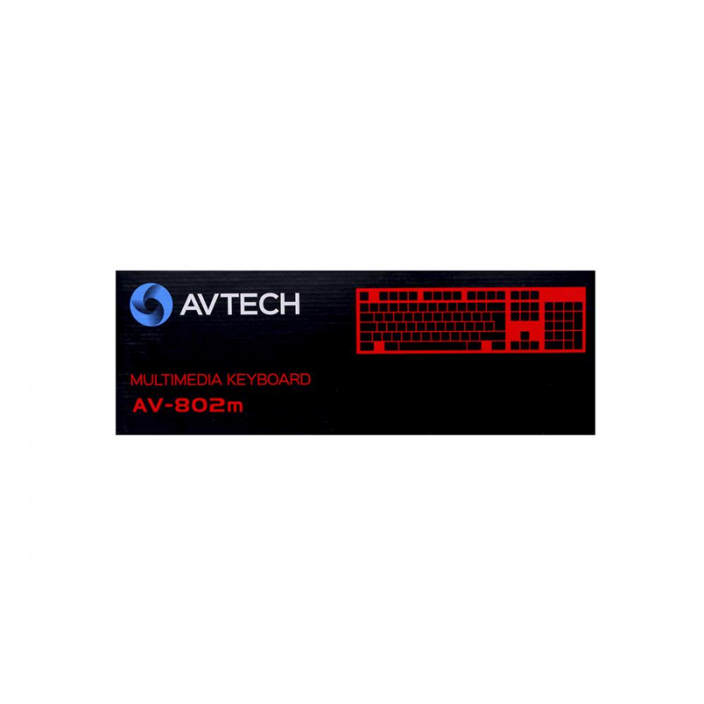 Клавиатура AVTECH AV-802M USB Multimedia