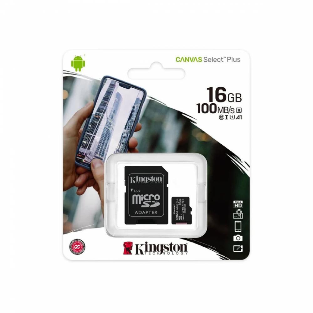 Карта памяти Kingston microSDXC 16GB Canvas Select Plus (SDCS2/16GB)