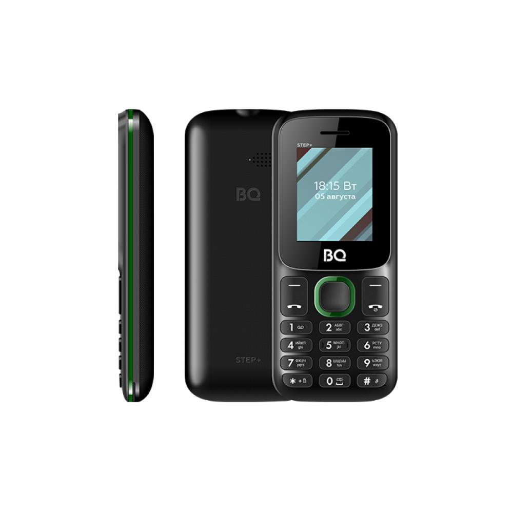 Кнопочный Телефон BQ 1848 Step+ Чёрный/ Зелёный