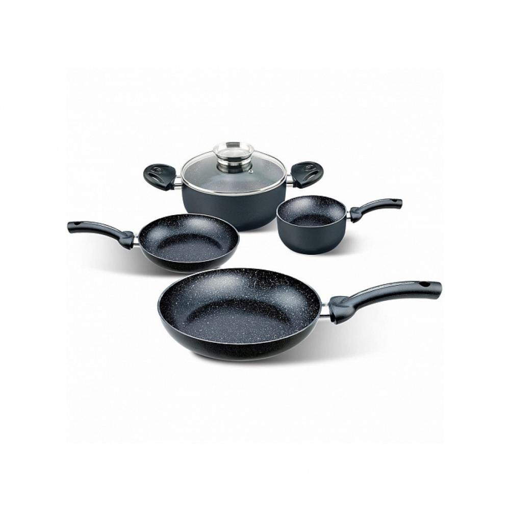 Набор посуды с гранитным покрытием Pensofal BIOSTONE 5 Чёрный