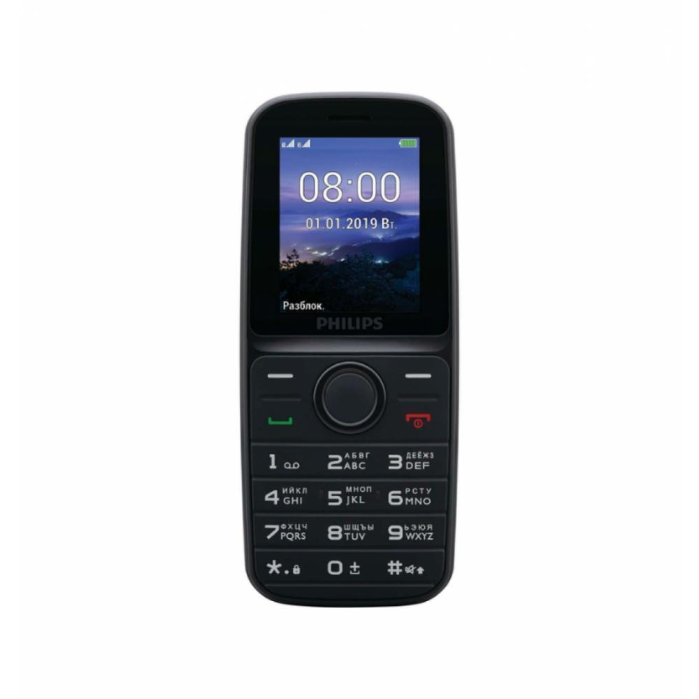 Кнопочный Телефон PHILIPS E109 RU Чёрный