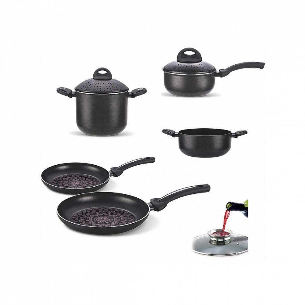 Набор посуды с гранитным покрытием Pensofal BIOSTONE 9 Чёрный