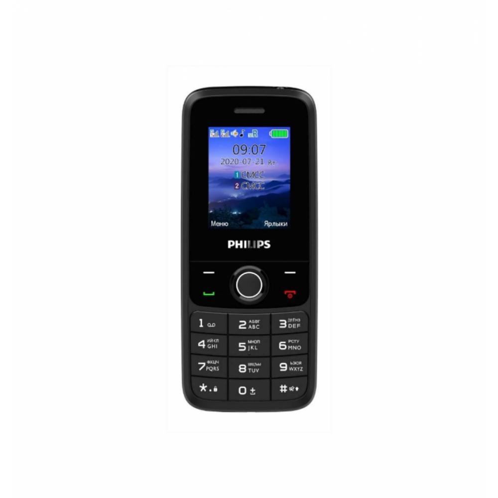 Кнопочный Телефон PHILIPS E117 RU Чёрный